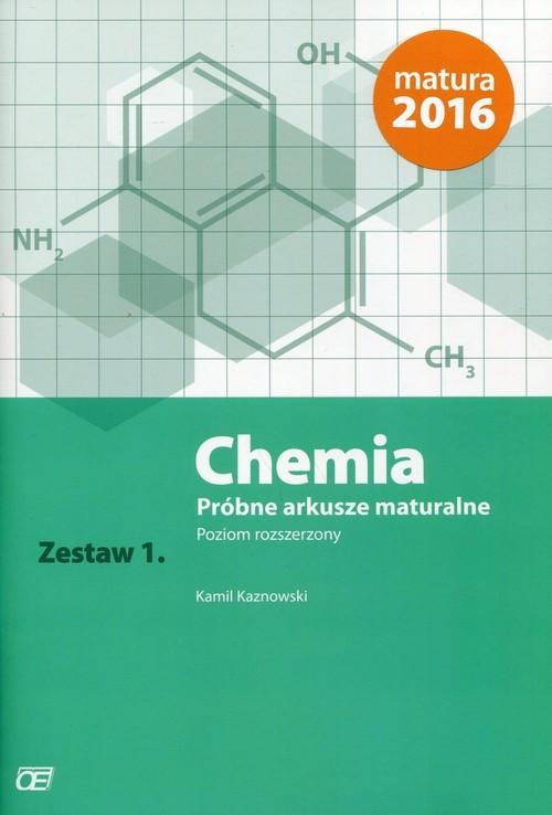 okładka Chemia Próbne arkusze maturalne Zestaw 1 Poziom rozszerzony, Książka | Kaznowski Kamil