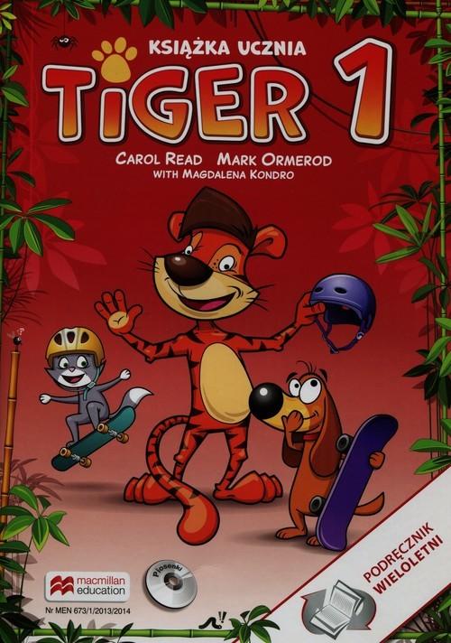 okładka Tiger 1 Książka ucznia + CD Szkoła podstawowa, Książka | Carol Read, Mark Ormerod, Magdalena Kondro