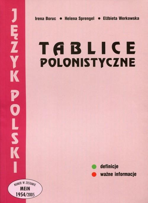 okładka Tablice polonistyczne Szkoła ponadgimnazjalna, Książka | Irena Boruc, Helena Sprengel, Elżbi Werkowska
