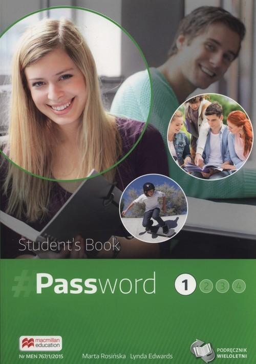 okładka Password 1 Podręcznik wieloletni + CD Szkoły ponadgimnazjalne, Książka | Marta Rosińska, Lydia Edwards
