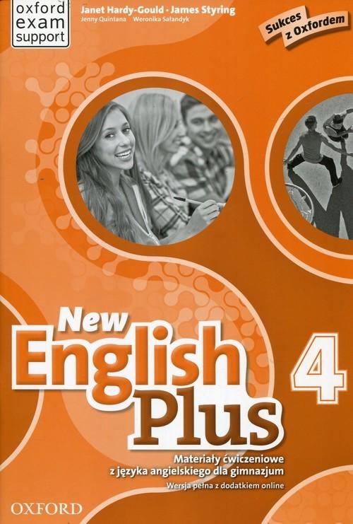 okładka New English Plus 4 Materiały ćwiczeniowe Gimnazjum, Książka | Janet Hardy-Gould, James Styring, Je Quintana