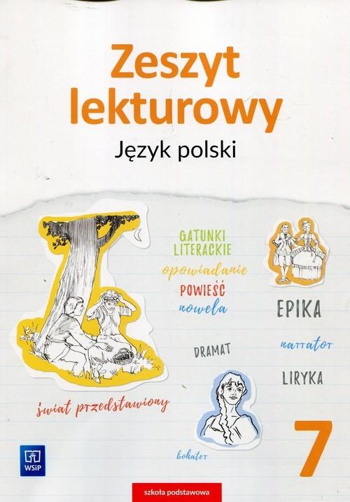 okładka Zeszyt lekturowy Język polski 7 Szkoła podstawowa, Książka   Horwath Ewa