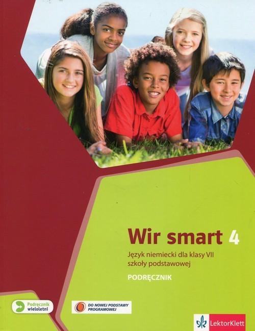 okładka Wir Smart Język niemiecki 4 Podręcznik dla klasy VII z płytą CD Szkoła podstawowa, Książka | Motta Giorgio