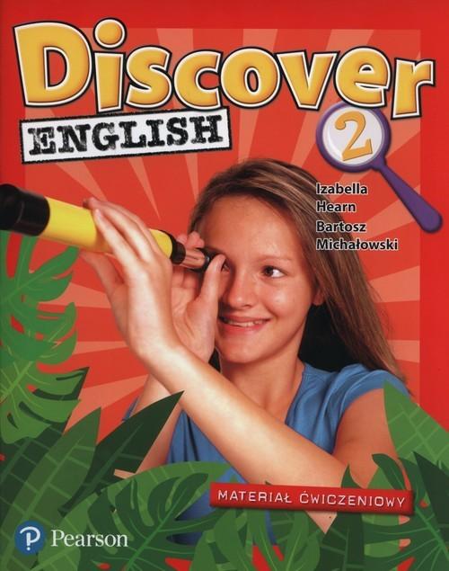 okładka Discover English 2 Materiał ćwiczeniowy Szkoła podstawowa, Książka   Izabella Hearn, Bartosz Michałowski