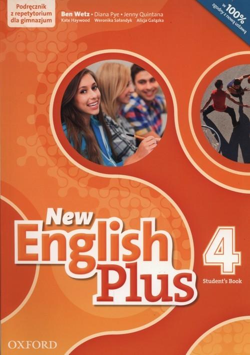 okładka New English Plus 4 Podręcznik z repetytorium + CD Gimnazjum, Książka | Ben Wetz, Diana Pye, Jenny Quintana, Gałązka