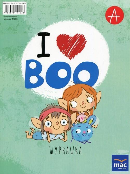 okładka I love Boo Język angielski Poziom A Wyprawka Przedszkole, Książka | Wodzicka-Dondziłło Ewa