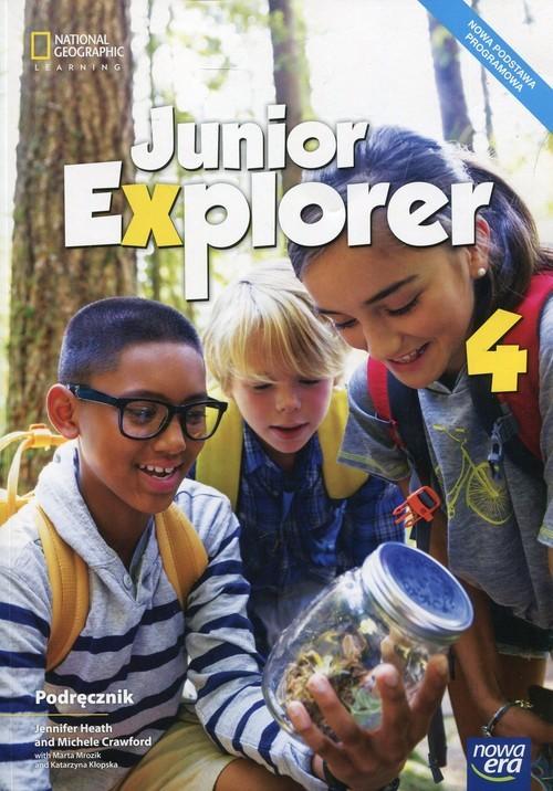 okładka Junior Explorer 4 Podręcznik Szkoła podstawowa, Książka | Jennifer Heath, Michele Crawford