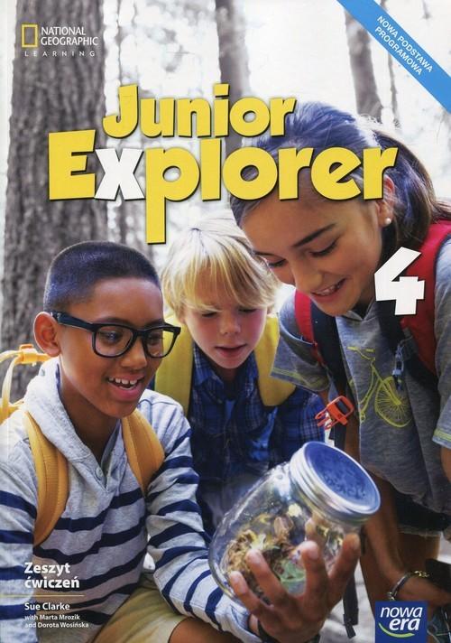 okładka Junior Explorer 4 Zeszyt cwiczeń Szkoła podstawowa, Książka | Sue Clarke, Marta Mrozik, Dorota Wosińska