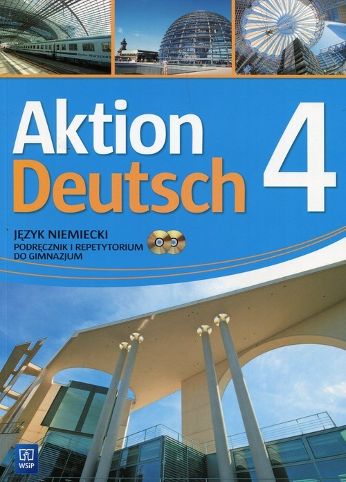 okładka Aktion Deutsch 4 Podręcznik i repetytorium + 2CD Gimnazjum, Książka | Potapowicz Anna