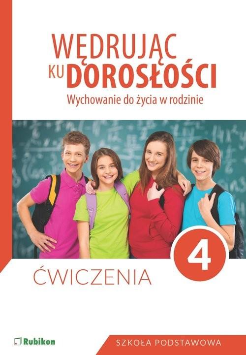 okładka Wędrując ku dorosłości 4 Ćwiczenia Szkoła podstawowa, Książka  