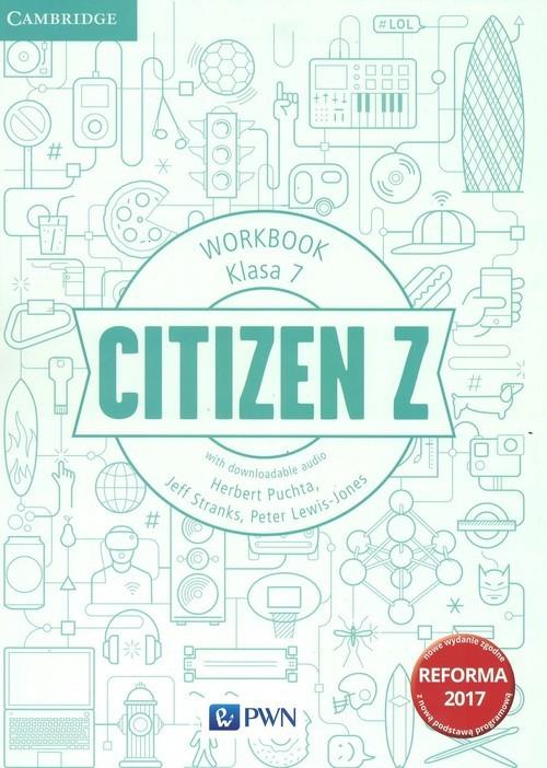 okładka Citizen Z 7 Workbook Szkoła podstawowa, Książka | Herbert Puchta, Jeff Stranks, Pet Lewis-Jones