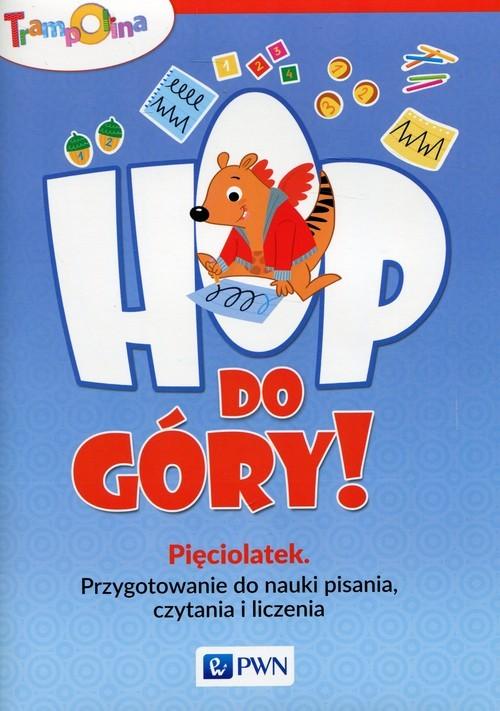 okładka Trampolina Hop, do góry! Pięciolatek Przygotowanie do nauki pisania, czytania i liczenia, Książka | Głuszniewska Aneta