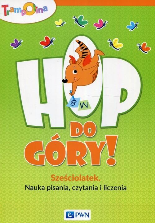 okładka Trampolina Hop do góry! Sześciolatek Nauka pisania czytania i liczenia, Książka | Głuszniewska Aneta