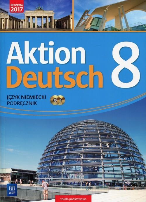 okładka Aktion Deutsch Język niemiecki 8 Podręcznik + 2CD Szkoła podstawowa, Książka | Potapowicz Anna