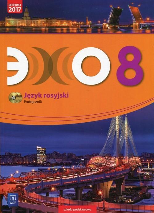 okładka Echo Język rosyjski 8 Podręcznik + 2CD Szkoła podstawowa, Książka | Gawęcka-Ajchel Beata