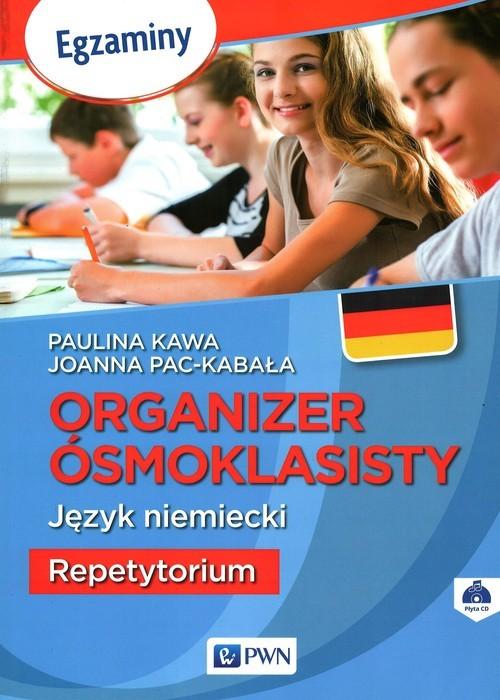 okładka Organizer ósmoklasisty Język niemiecki Repetytorium, Książka | Paulina Kawa, Joanna Pac-Kabała