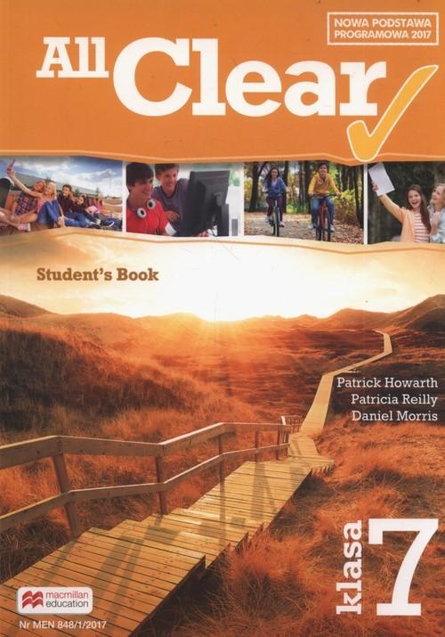okładka All Clear 7 Student's Book Szkoła podstawowa, Książka | Patrick Howarth, Patricia Reilly, Dani Morris