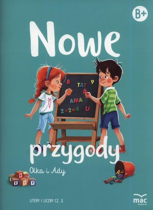 okładka Nowe przygody Olka i Ady. Litery i liczby część 2, Książka |