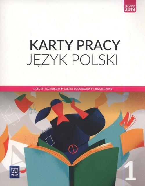 okładka Język polski 1 Karty pracy Zakres podstawowy i rozszerzony Szkoła ponadpodstawowa, Książka | Ewa Nowak