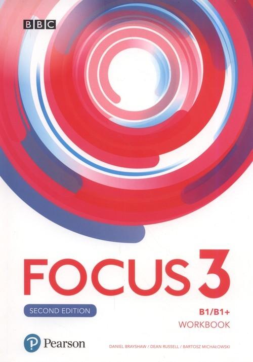 okładka Focus 3 Workbook Szkoła ponadpodstawowa, Książka | Daniel Brayshaw, Dean Russell, Ba Michałowski