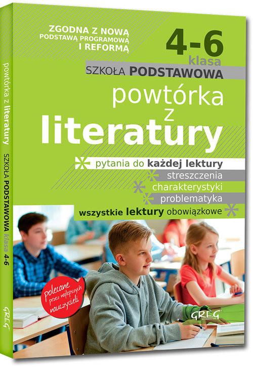 okładka Powtórka z literatury - szkoła podstawowa - klasy 4-6, Książka | Małgorzata Białek, Olga Gradoń, Damia Molicki