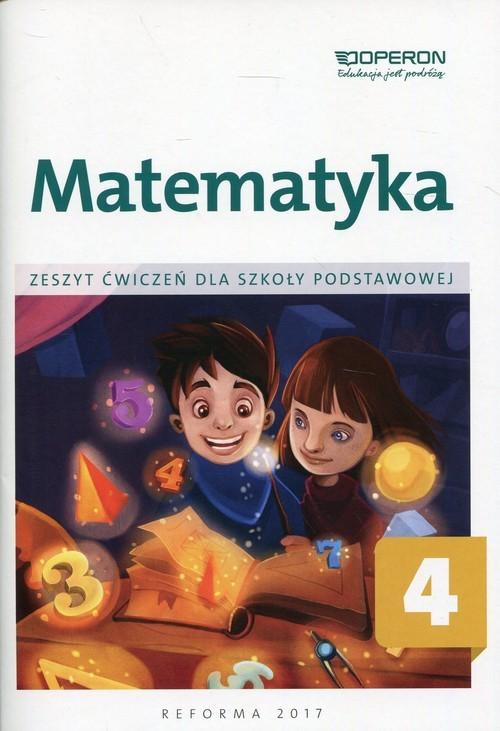 okładka Matematyka 4 Zeszyt ćwiczeń Szkoła podstawowa, Książka | Bożena Kiljańska, Adam Konstantynowicz, Konst