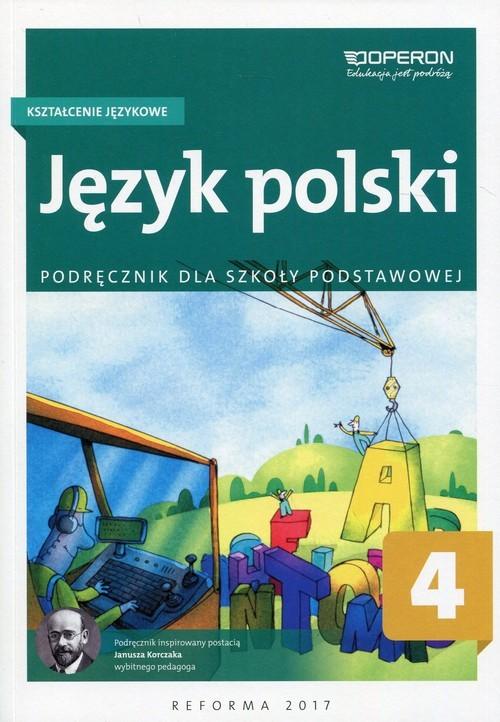 okładka Język polski 4 Kształcenie językowe Podręcznik Szkoła podstawowa, Książka | Białek Małgorzata
