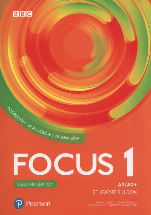 okładka Focus Second Edition 1 Student's Book + CD Szkoła ponadpodstawowa i ponadgimnazjalna, Książka | Marta Umińska, Patricia Reilly, Tomasz Siuta, Praca Zbiorowa