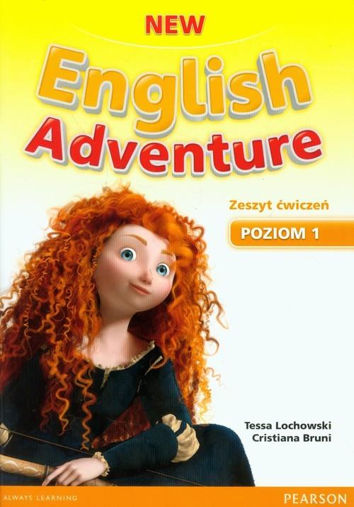 okładka New English Adventure 1 Zeszyt ćwiczeń z płytą DVD, Książka   Tessa Lochowski, Cristiana Bruni