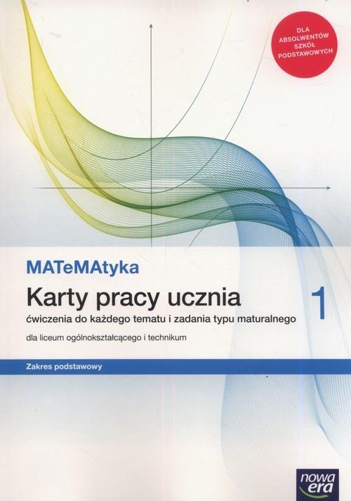 okładka MATeMAtyka 1 Karty pracy ucznia Zakres podstawowy Szkoła ponadpodstawowa, Książka | Dorota Ponczek, Karolina Wej