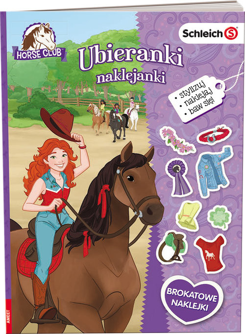 okładka Schleich Horse Club Ubieranki naklejanki SDU-8401, Książka |