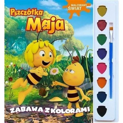 okładka Pszczółka Maja Malowany świat Zabawa z kolorami, Książka |