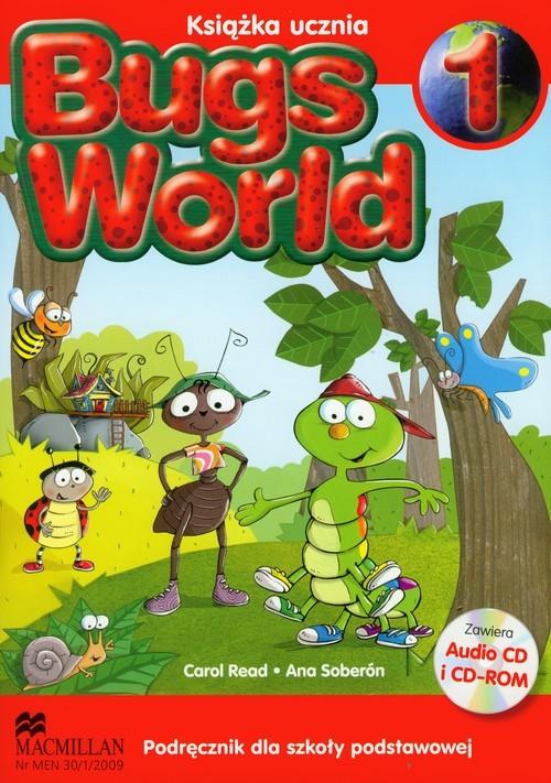 okładka Bugs World 1 Podręcznik z płytą CD Szkoła podstawowa, Książka | Carol Read, Ana Soberon