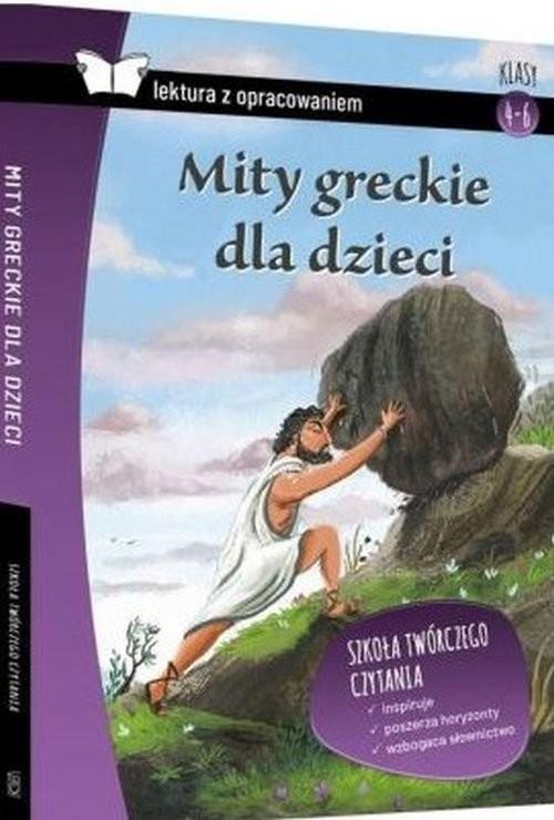 okładka Mity greckie dla dzieci Lektura z opracowaniem, Książka |