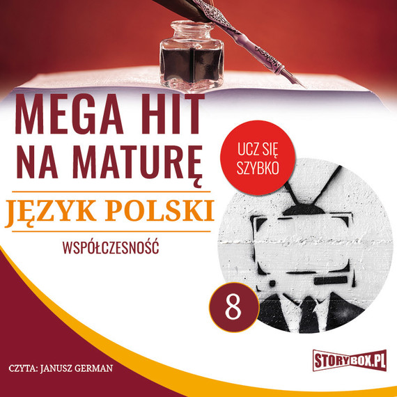 okładka Mega hit na maturę. Język polski 8. Współczesność, Audiobook | Małgorzata Choromańska