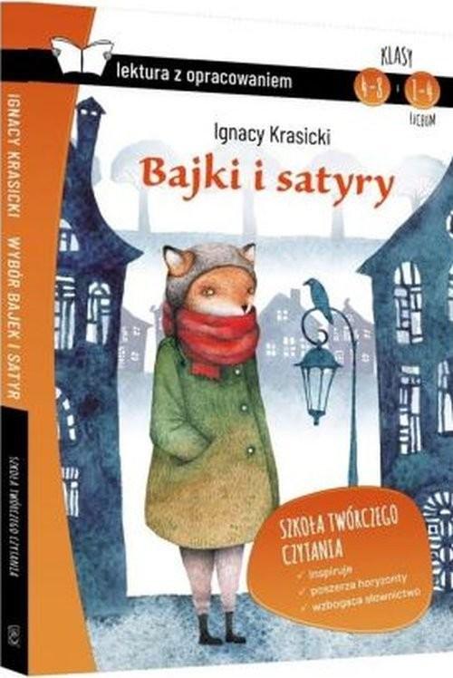 okładka Bajki i satyry Krasicki z opracowaniem, Książka | Krasicki Ignacy