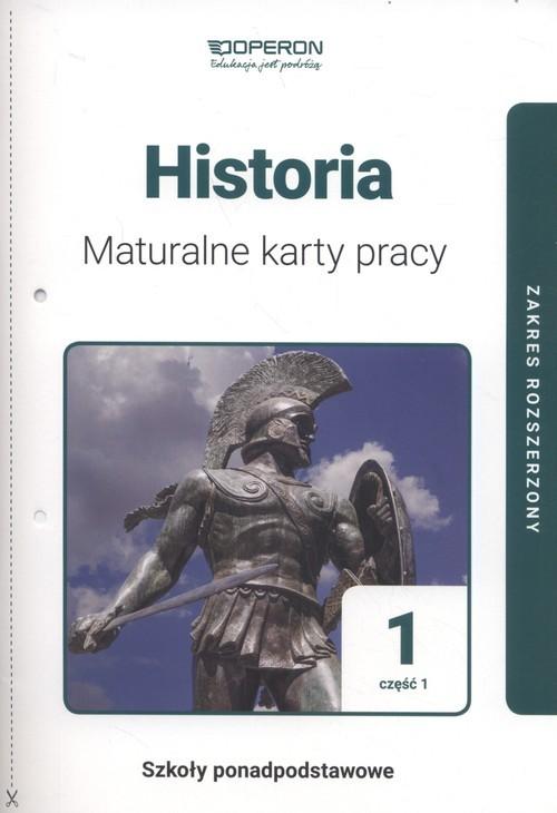okładka Historia 1 Maturalne karty pracy Część 1 Zakres rozszerzony, Książka | Dawidziuk Marek