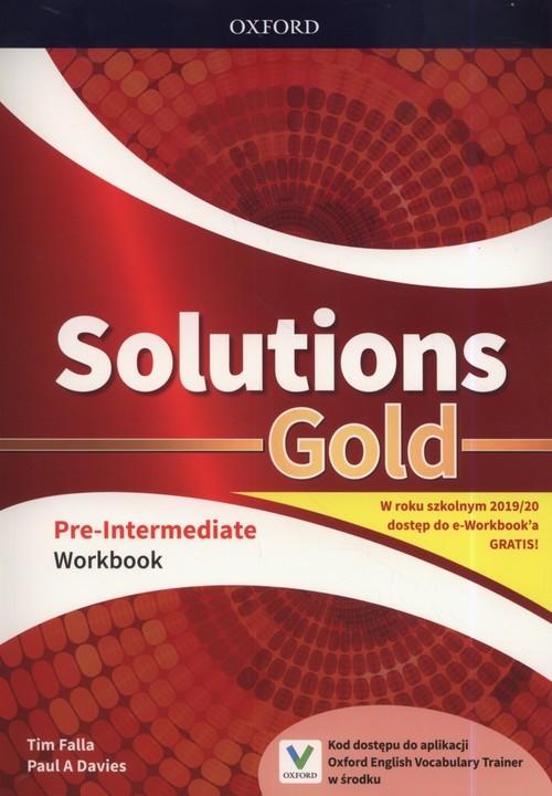 okładka Solutions Gold Pre-Intermediate Workbook Szkoła ponadpodstawowa i ponadgimnazjalna, Książka | Tim Falla, Paul A. Davies