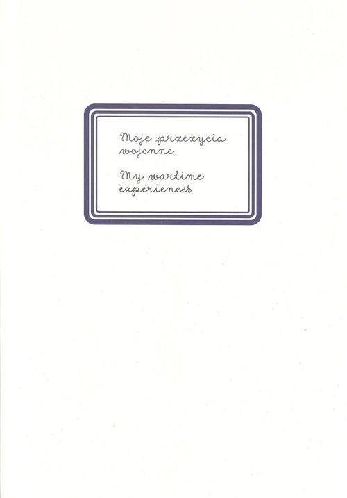 okładka Moje przeżycia wojenneksiążka |  |