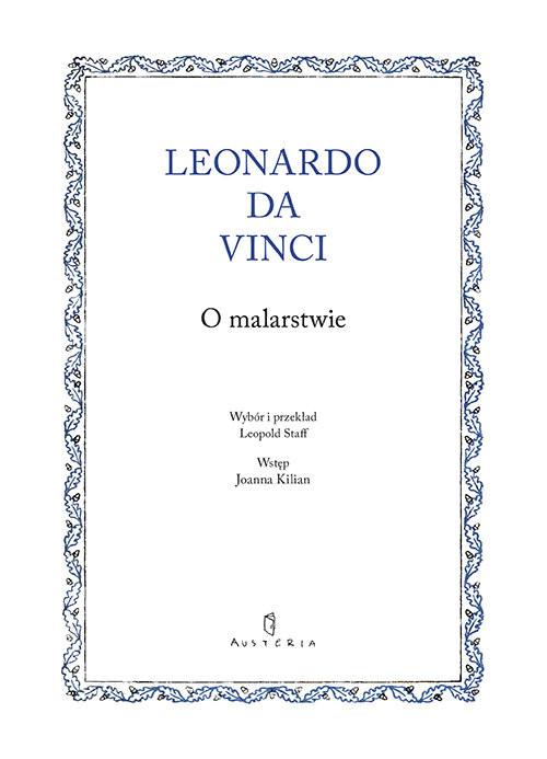 okładka O malarstwie, Książka | da Vinci Leonardo