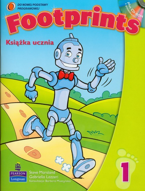 okładka Footprints 1 Książka ucznia z płytą CD Szkoła podstawowa, Książka |