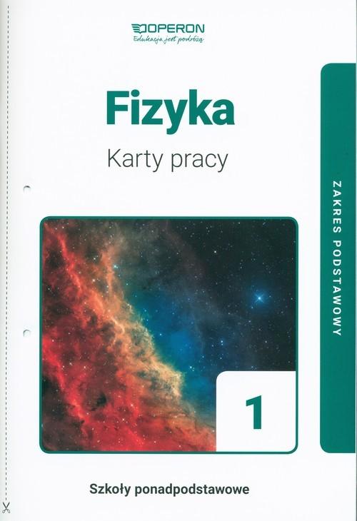 okładka Fizyka 1 Karty pracy Zakres podstawowy Szkoła ponadpodstawowa, Książka | Dobosz Anna