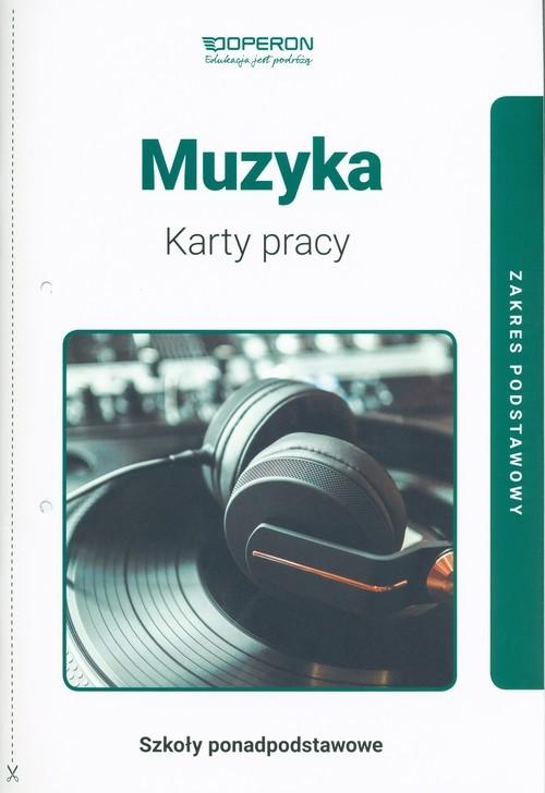 okładka Muzyka Karty pracy Zakres podstawowy Szkoła ponadpodstawowa, Książka | Serwańska Krystyna
