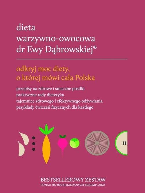 okładka Dieta warzywno-owocowa dr Ewy Dąbrowskiej komplet, Książka | Beata Dąbrowska, Paulina Borkowska