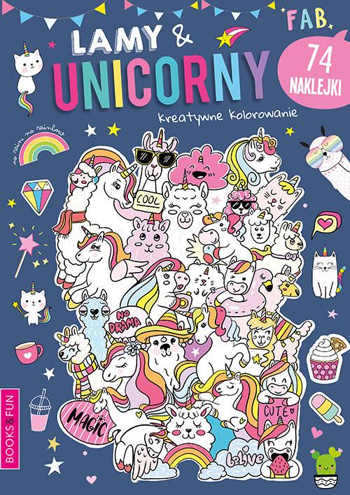 okładka Lamy & Unicorny Activity z Naklejkami, Książka  