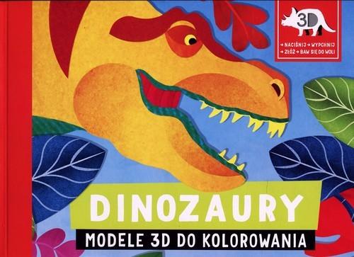 okładka Dinozaury Modele 3D do kolorowania, Książka |
