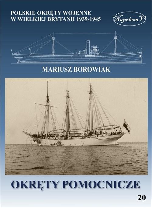 okładka Okręty pomocnicze, Książka | Borowiak Mariusz