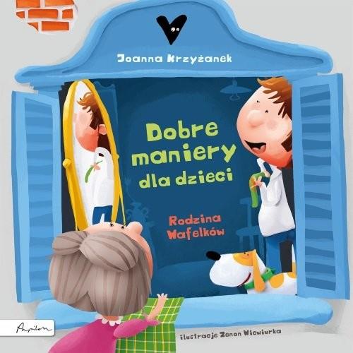 okładka Dobre maniery dla dzieci Rodzina Wafelków, Książka | Joanna  Krzyżanek