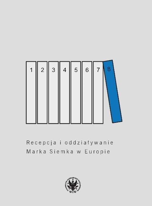 okładka Recepcja i oddziaływanie Marka Siemka w Europieksiążka     