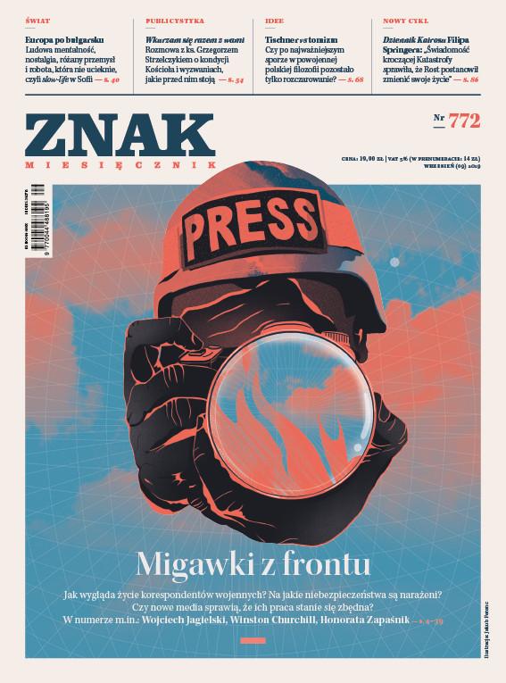 okładka ZNAK 772 9/2019: Migawki z frontu, Książka |